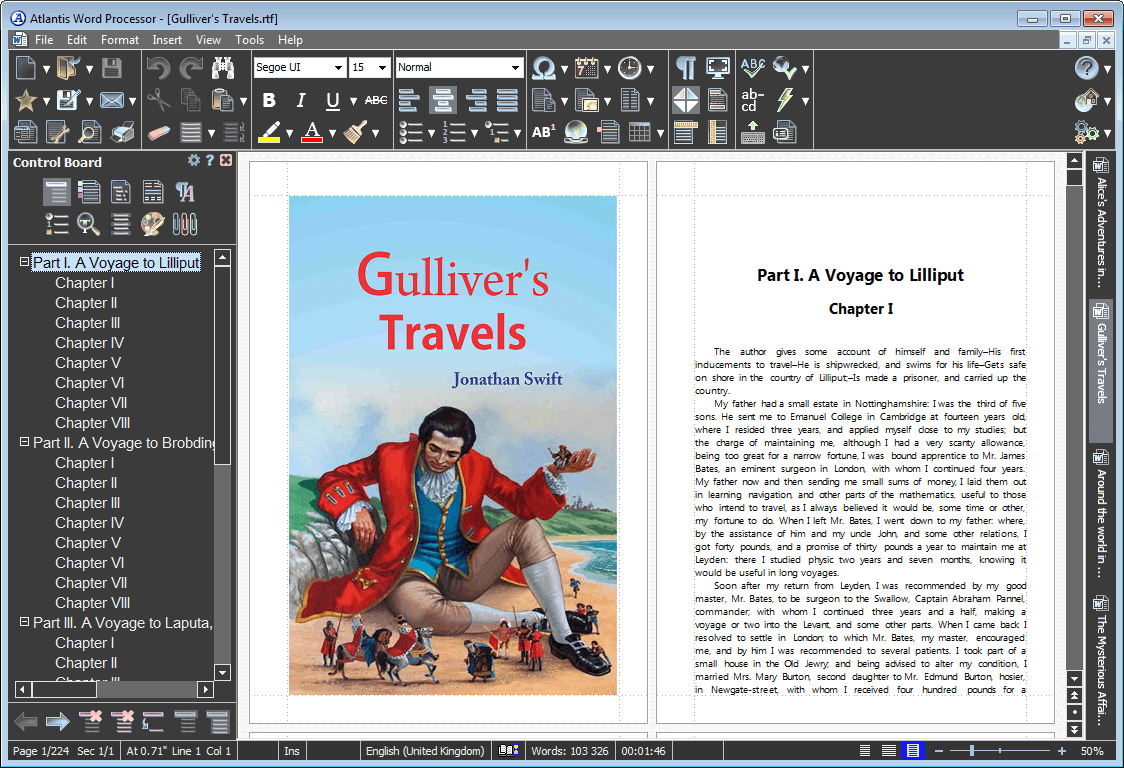 Click to view Atlantis Word Processor 1.6.1.9 screenshot