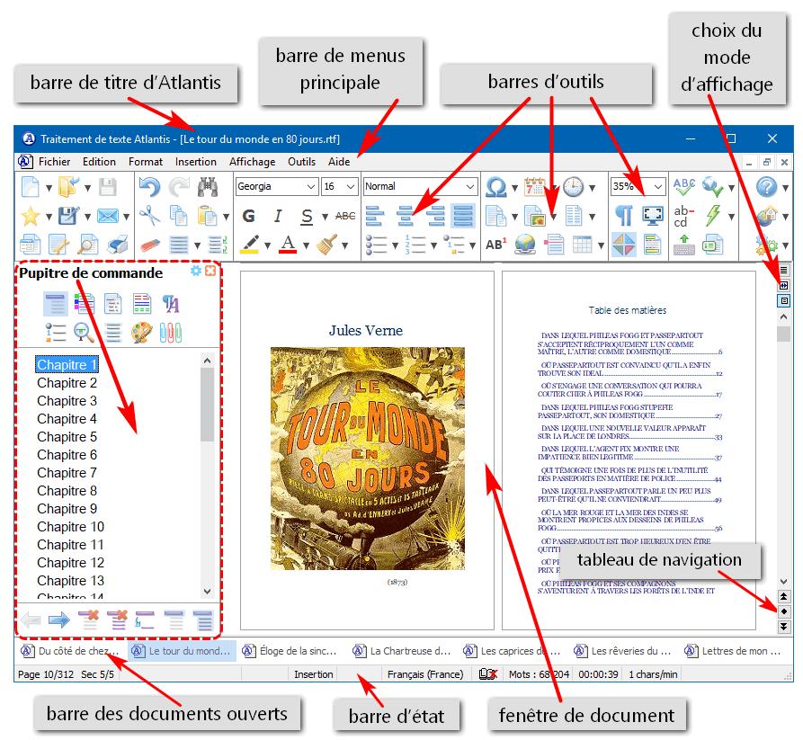 Traitement de texte atlantis aide en ligne les for Reduire fenetre windows