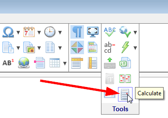 The 'Calculate' toolbar button